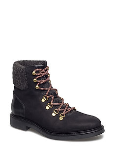 Ashley Mid lace boot - BLACK