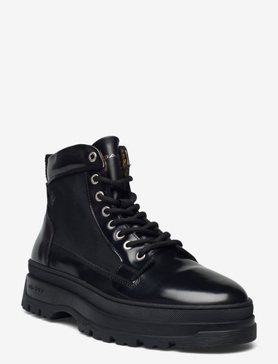 St Grip Mid Lace Boot - laced boots - black