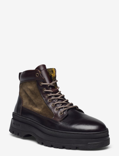 St Grip Mid Lace Boot - laced boots - ivy green/dk bro/espresso