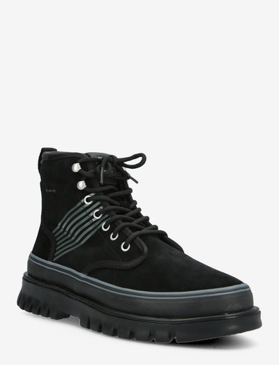 Nebrada Mid Lace Boot - laced boots - black