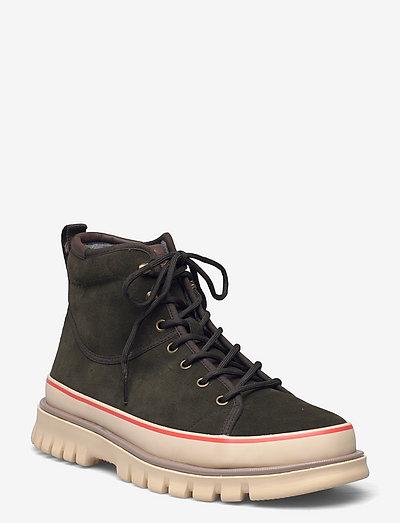 Nebrada Mid Lace Boot - winter boots - ivy green