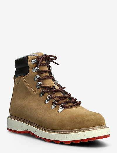 Raymo Mid Boot - laced boots - warm khaki/dk brown
