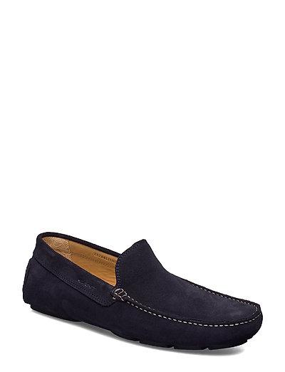 Nicehill Moccasin Loafers Flache Schuhe Blau GANT