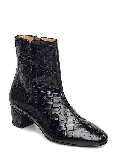 Ellar Mid Zip Boot Shoes Boots Ankle Boots Ankle Boot - Heel Schwarz GANT