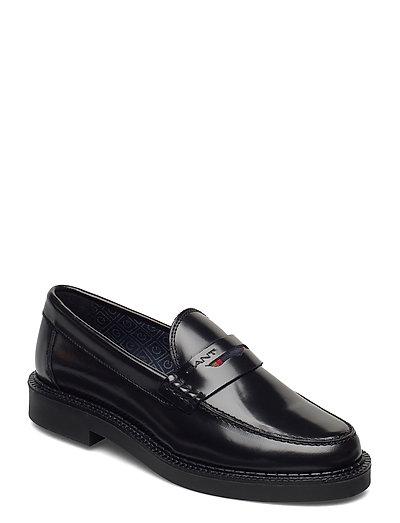 Kennedi Moccasin Loafers Flache Schuhe Schwarz GANT