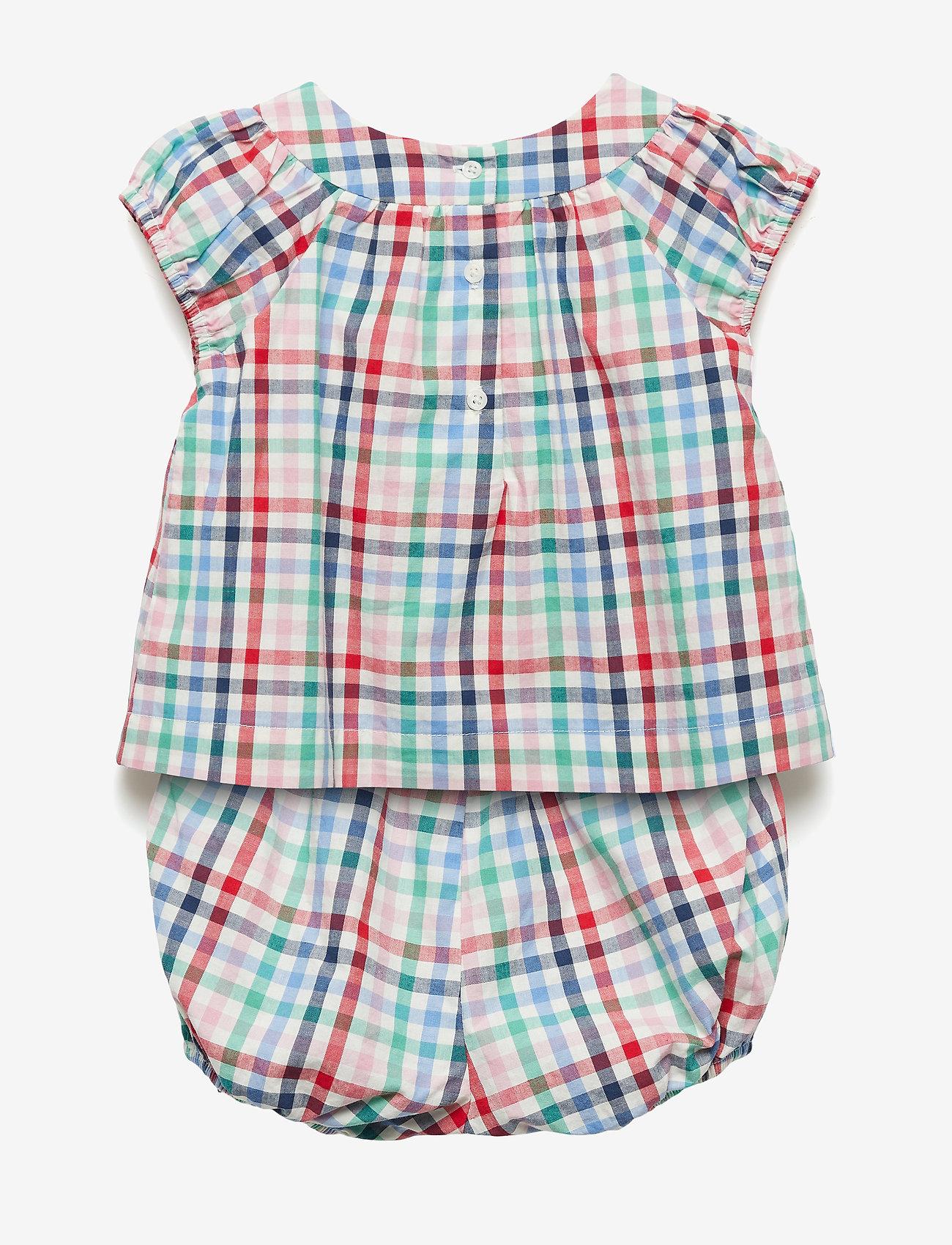 Gap Baby Plaid Bubble Short Set - Överdelar Multi