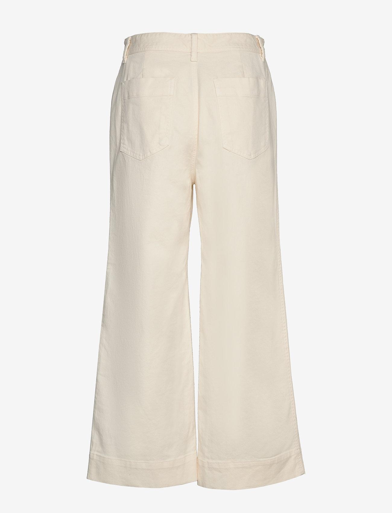GAP - High Rise Wide-Leg Crop Khakis - bukser med brede ben - ivory frost - 1