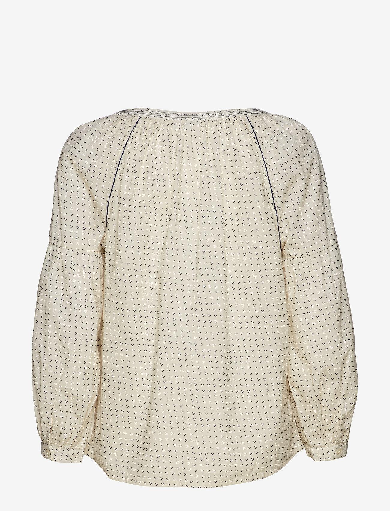 GAP - Embroidered Print Peasant Blouse - pitkähihaiset puserot - white dots