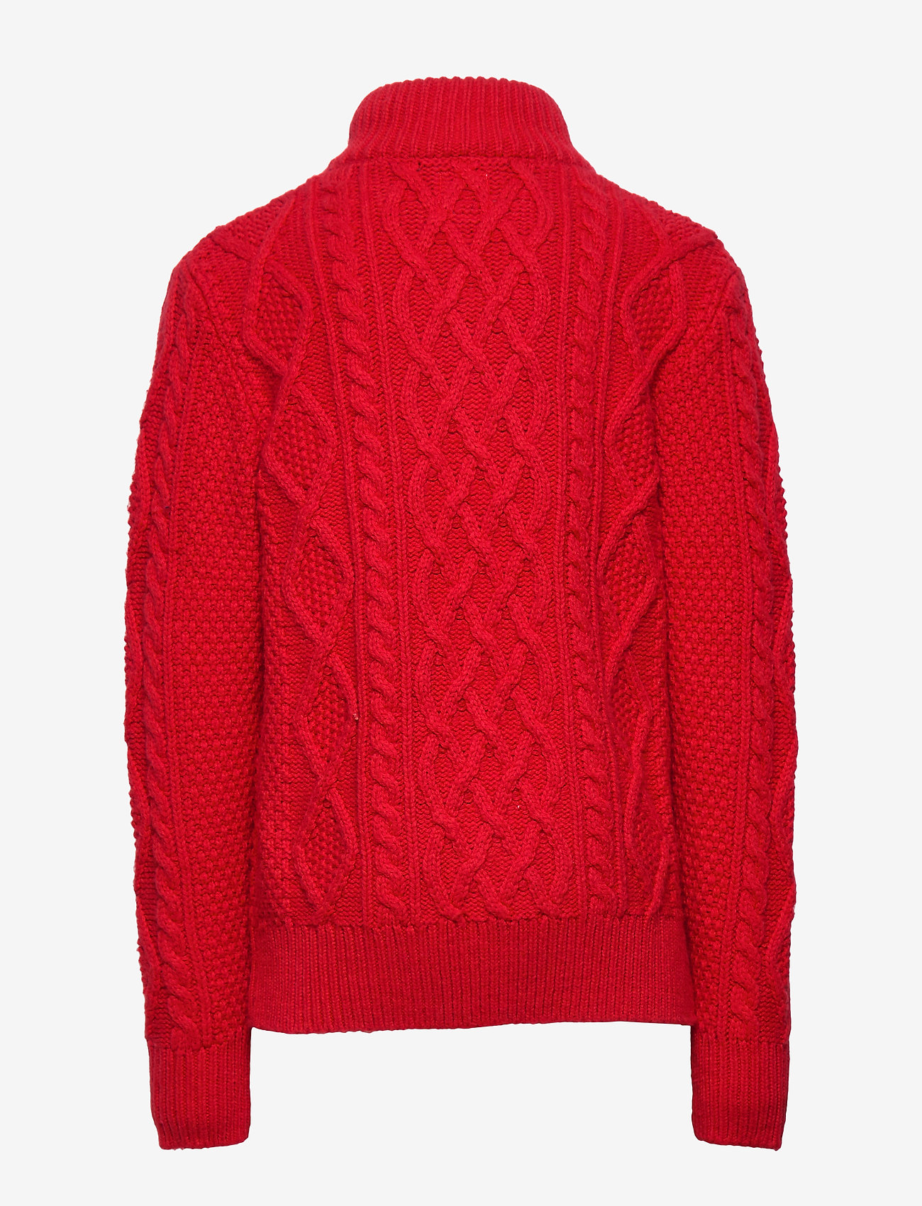 GAP - Kids Cable-Knit Mockneck Sweater - neuleet - modern red 2