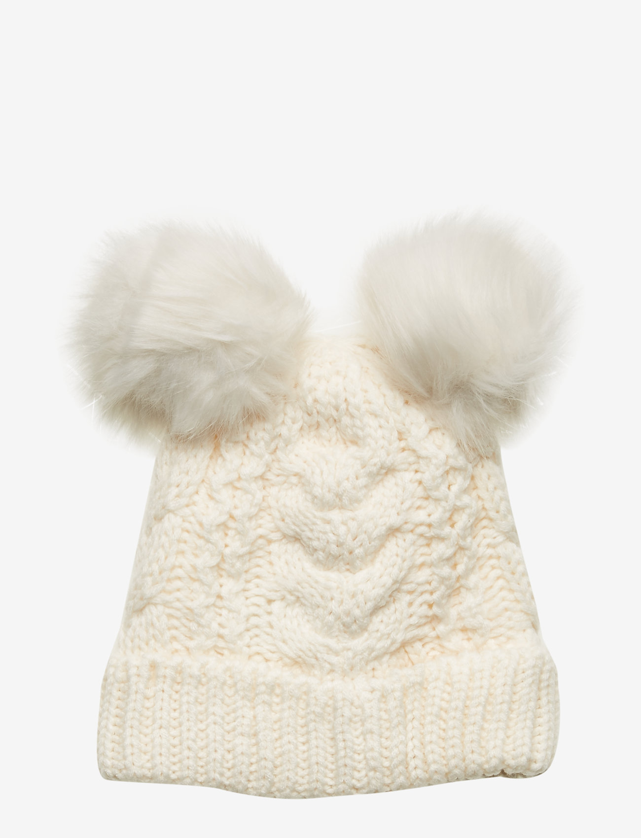 GAP - Toddler Cable-Knit Pom Beanie - hatut - ivory frost