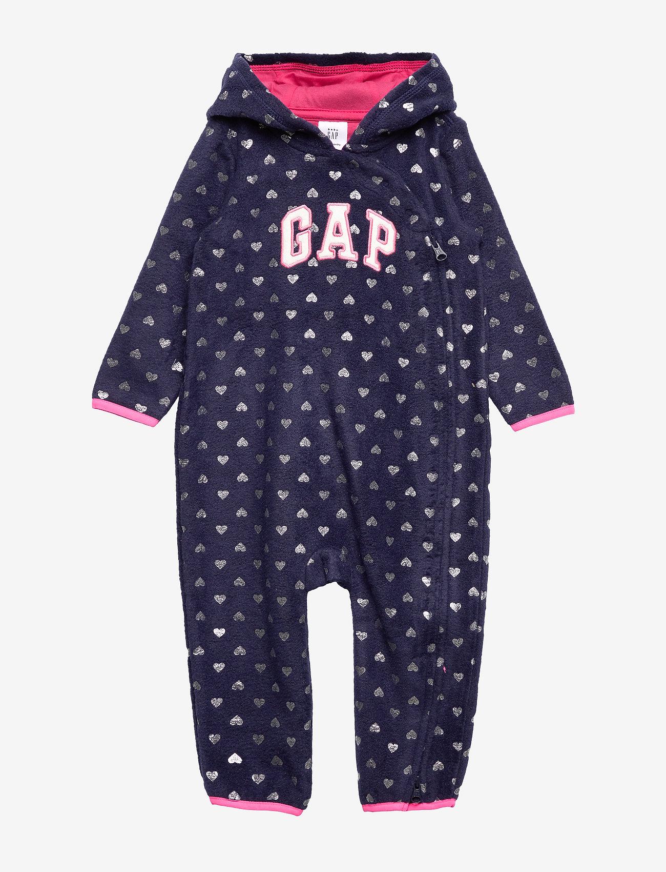 GAP - Baby Gap Logo Hoodie One-Piece - pitkähihaiset - navy print
