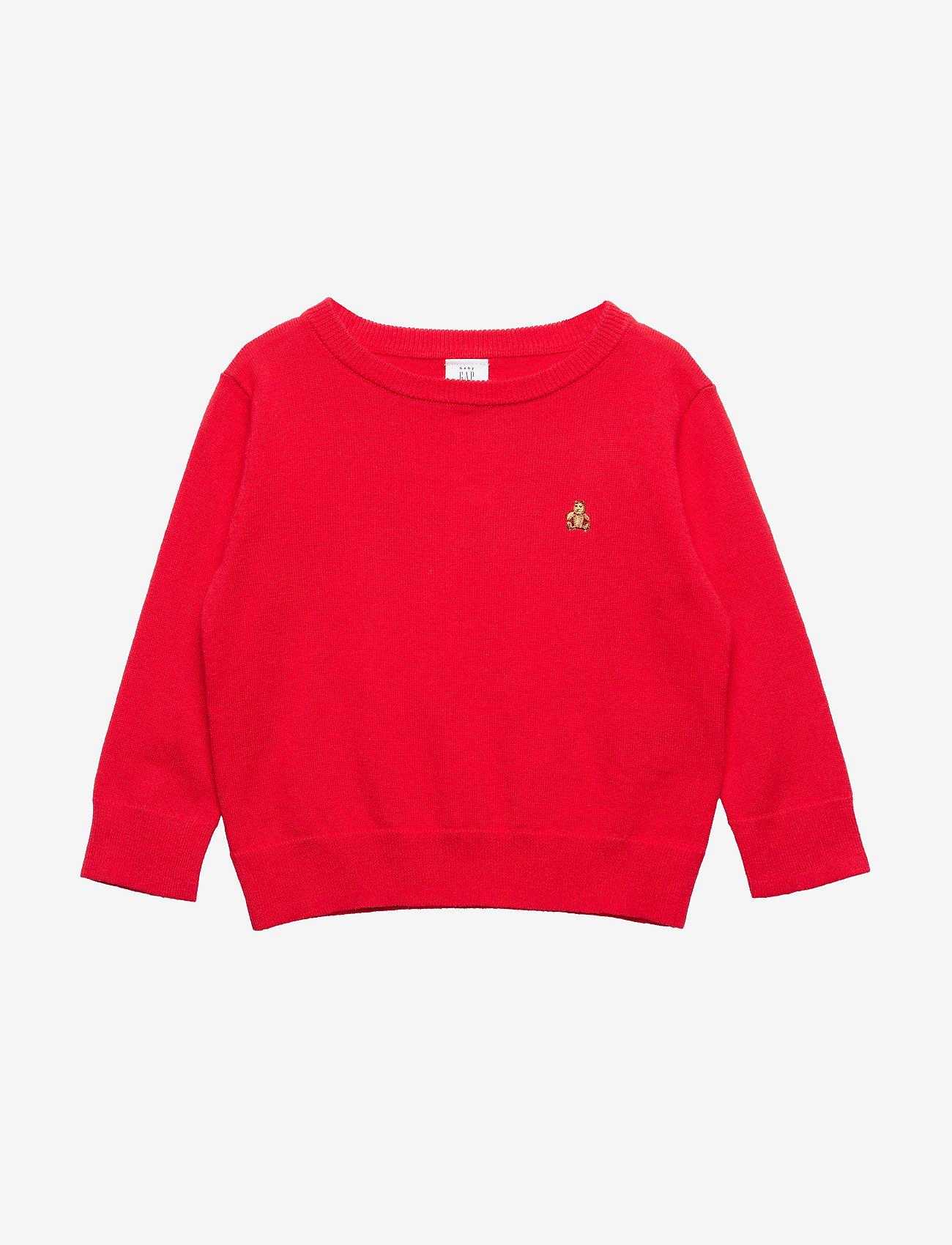 GAP - Toddler Brannan Bear Sweater - svetarit - pure red v2