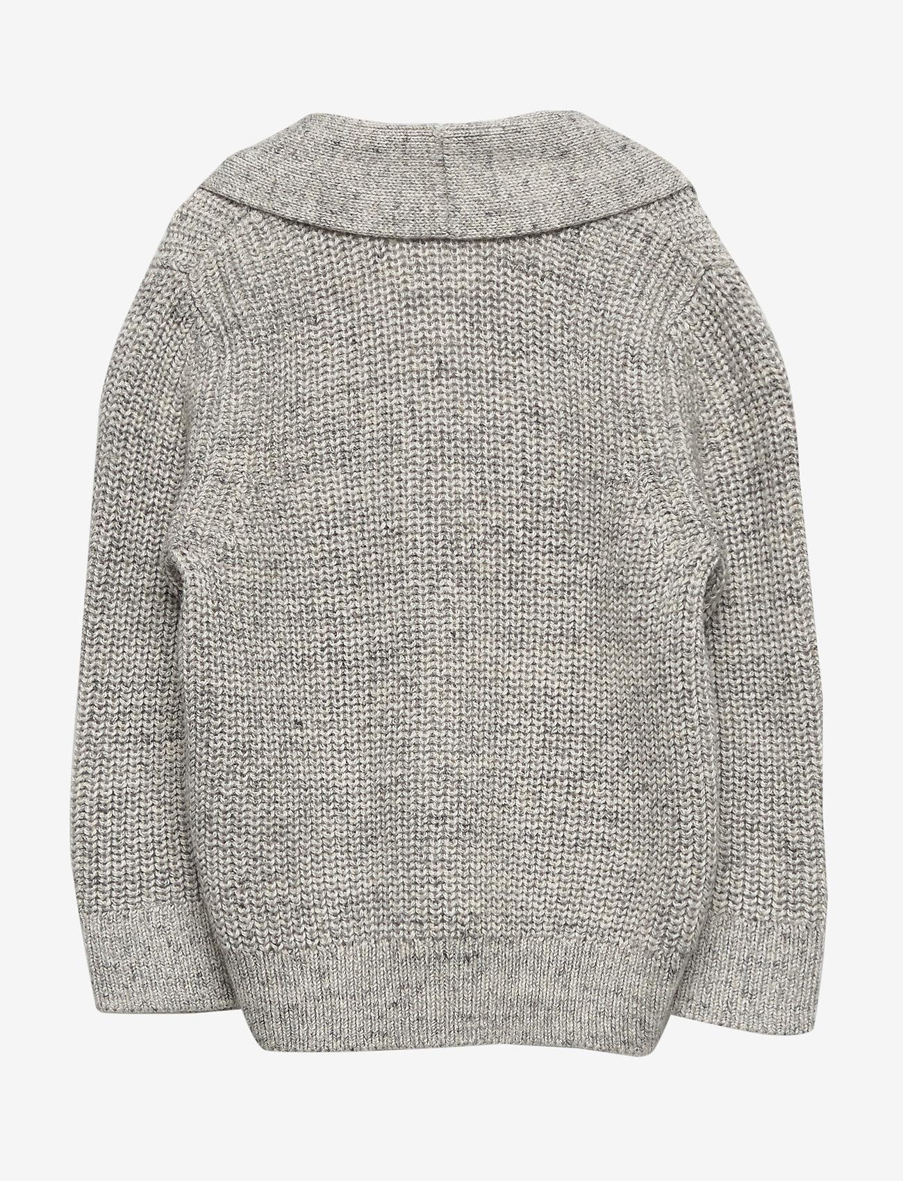 GAP - Toddler Shawl-Collar Cardi Sweater - neuletakit - light heather grey