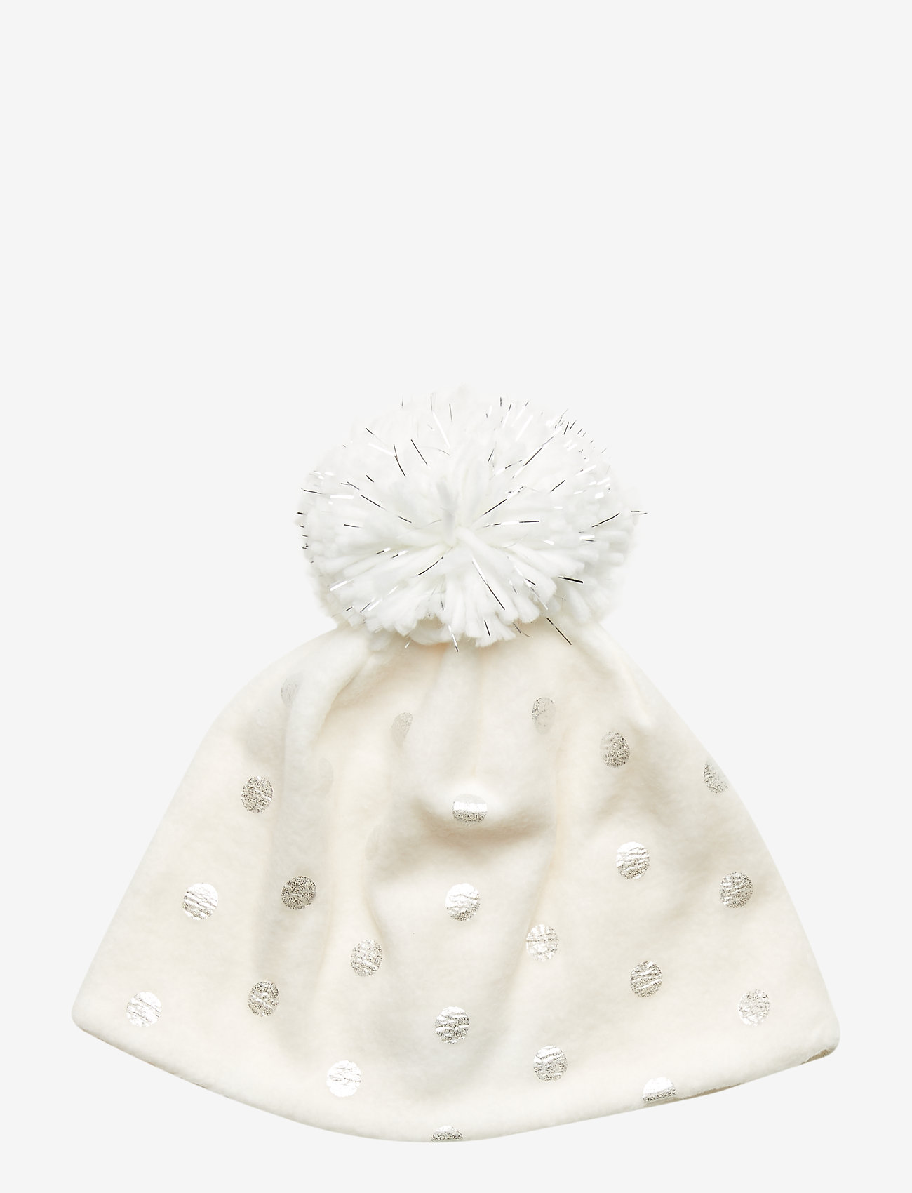 GAP - Kids Foil Dot Pom Hat - hatut - ivory frost