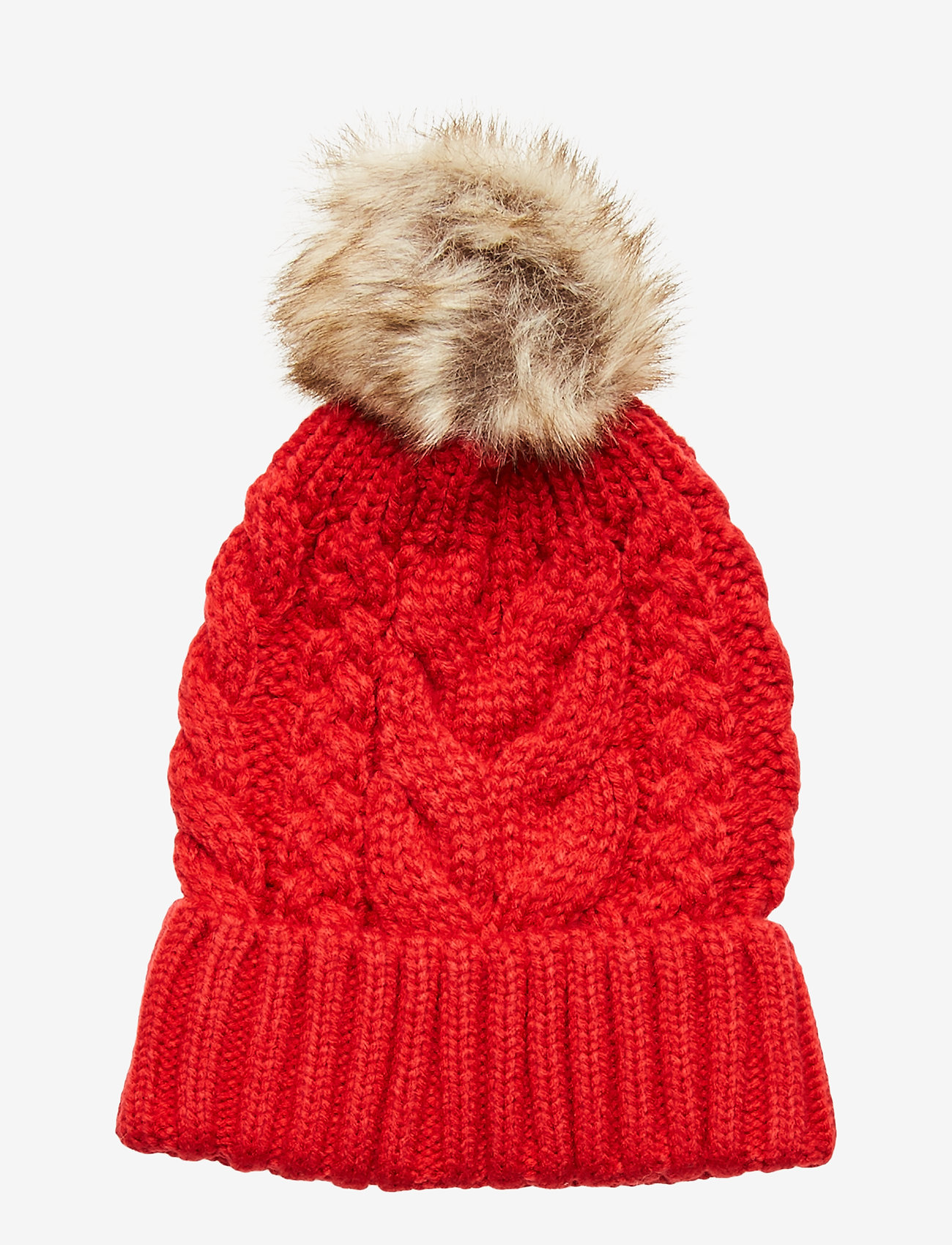 GAP - Kids Cable-Knit Pom Beanie - hatut - modern red 2