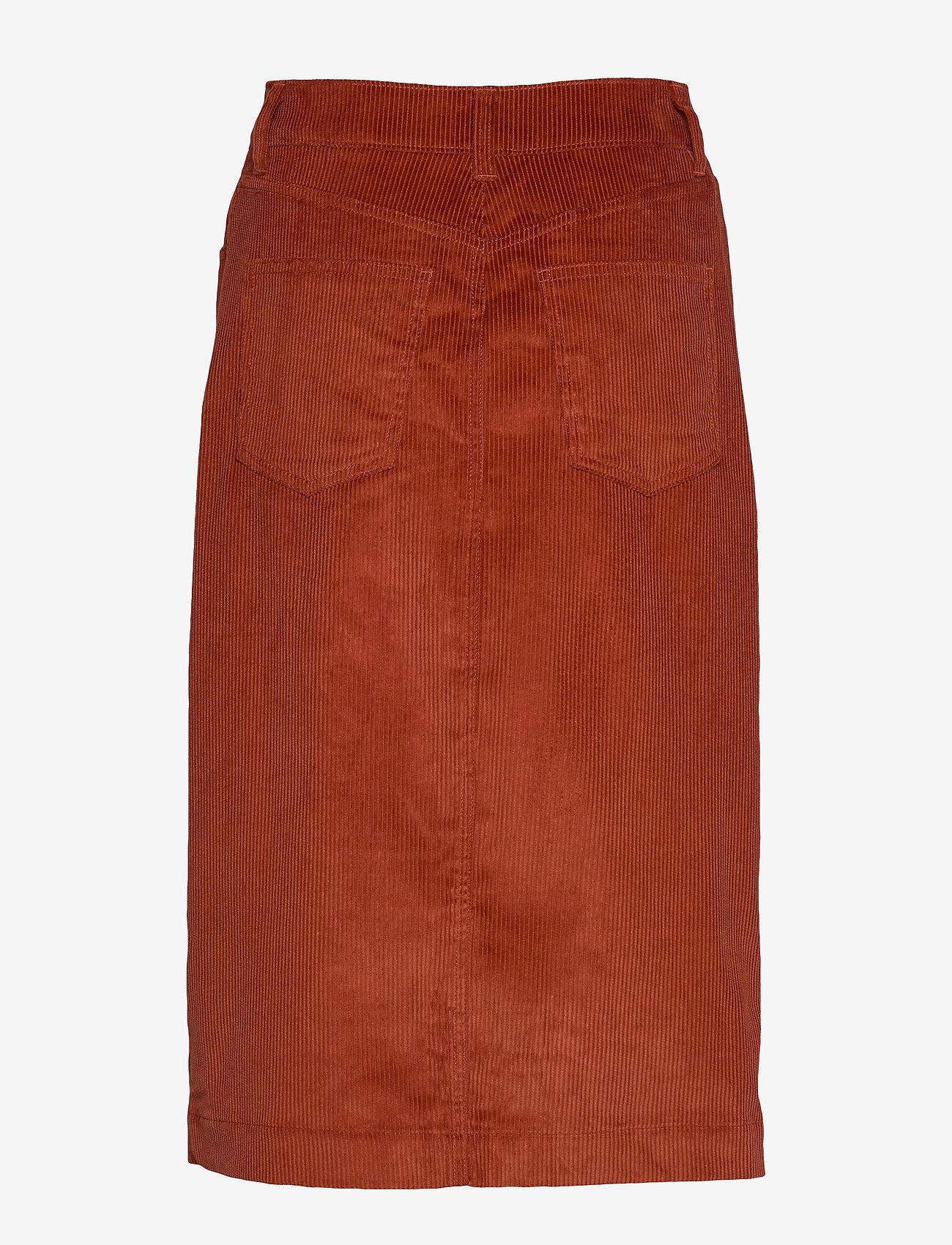 GAP Corduroy Button-Front Midi Skirt - Spódnice COPPER SPICE 245 - Kobiety Odzież.