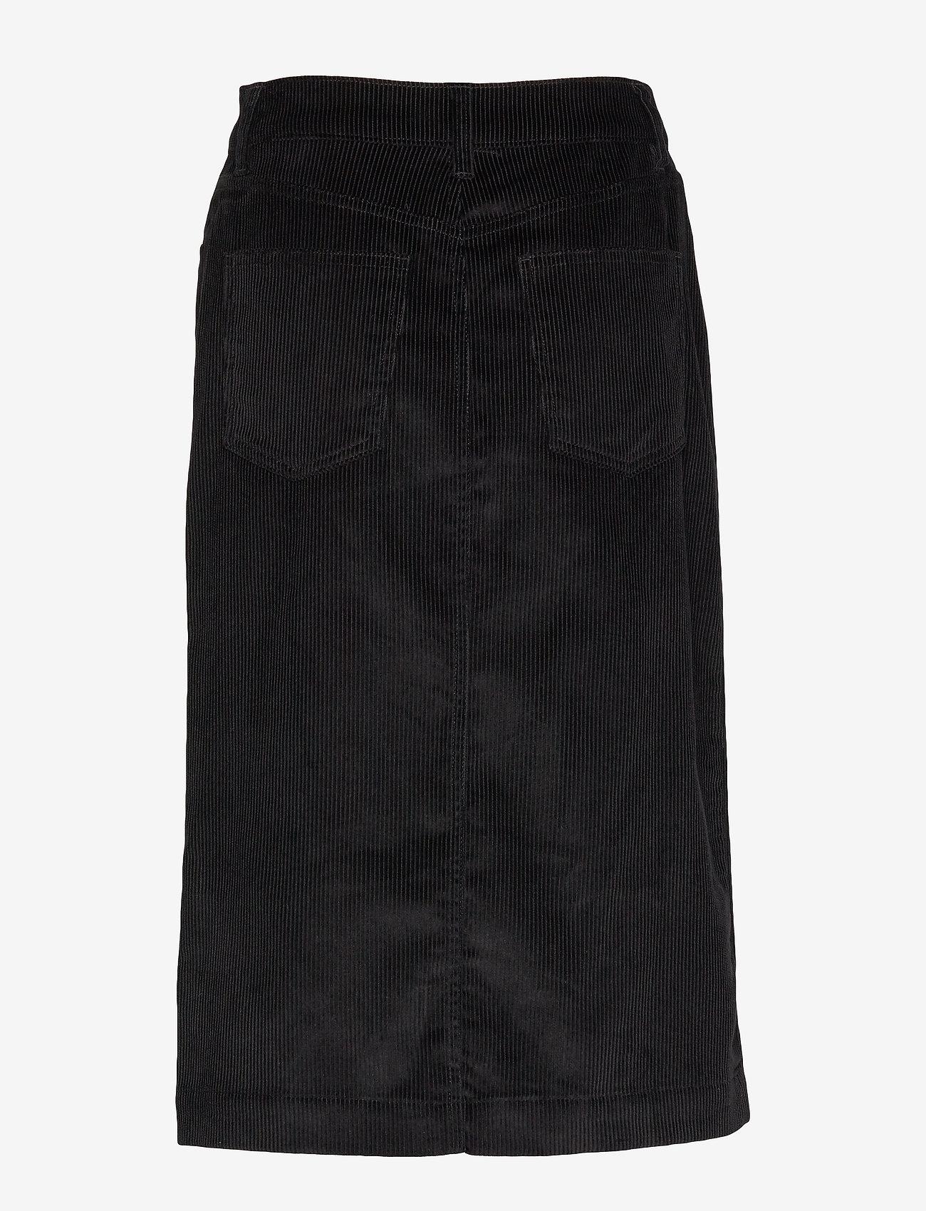 GAP Corduroy Button-Front Midi Skirt - Spódnice TRUE BLACK V2 3 - Kobiety Odzież.
