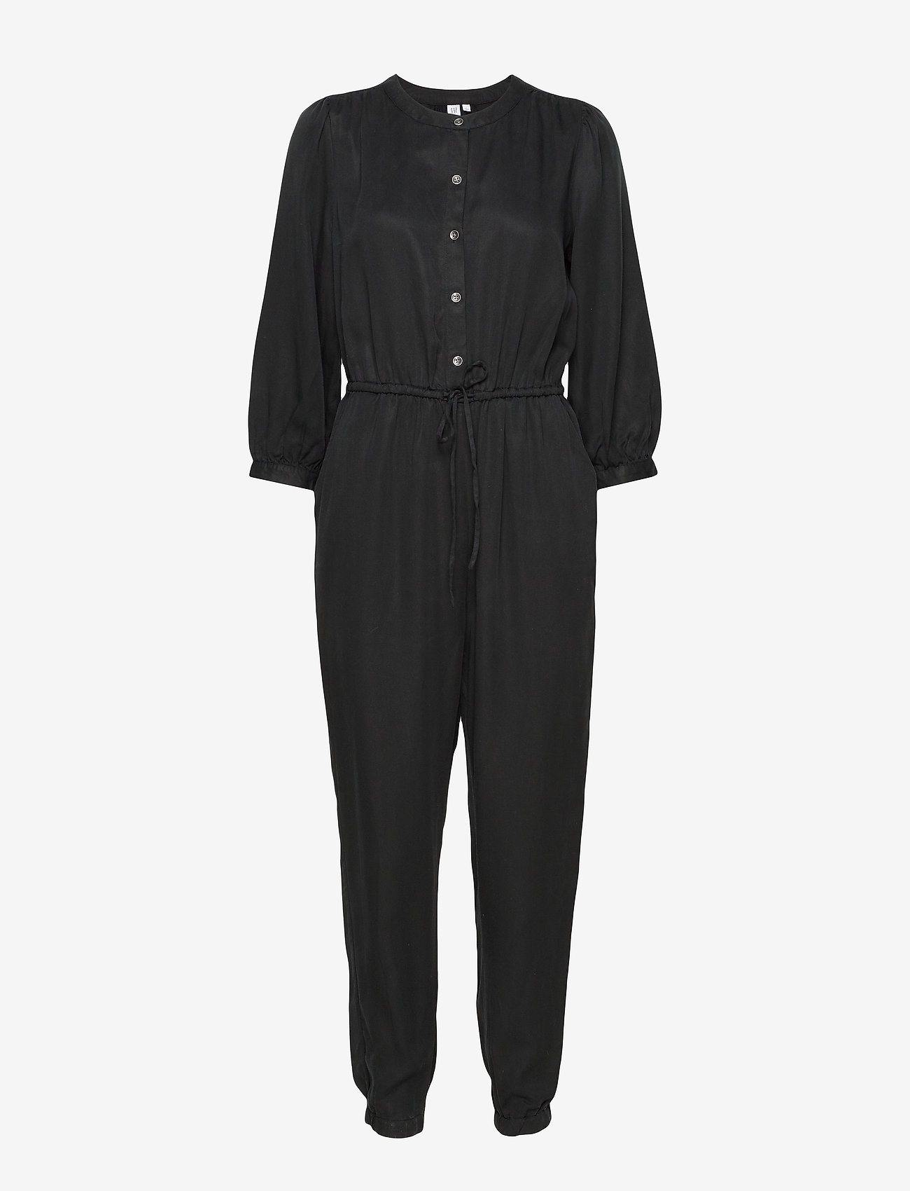 GAP - Blouson Sleeve Jumpsuit in TENCEL™ - jumpsuits - true black v2 2 - 0