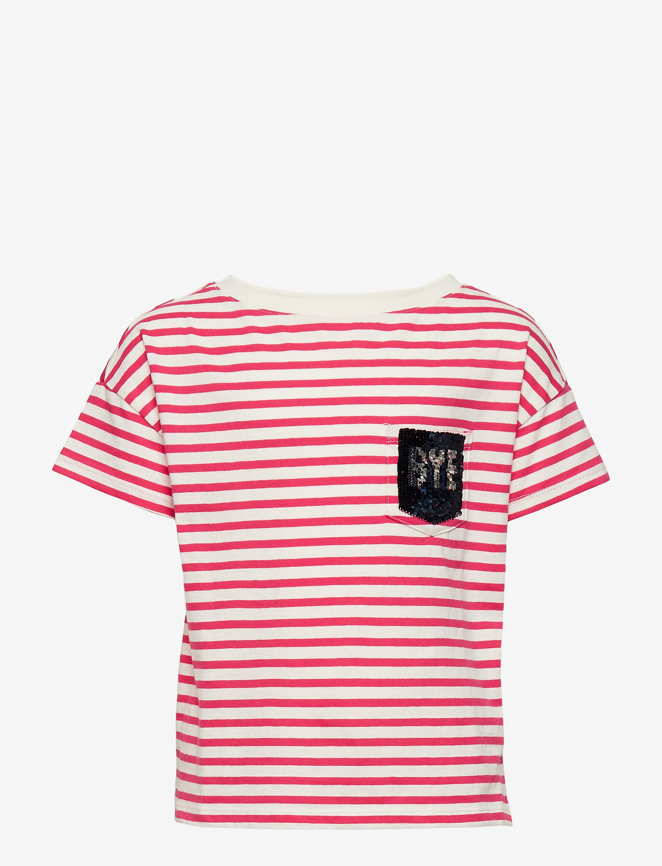 Gap Kids Flippy Sequin Graphic T-shirt - Överdelar Pink Stripe
