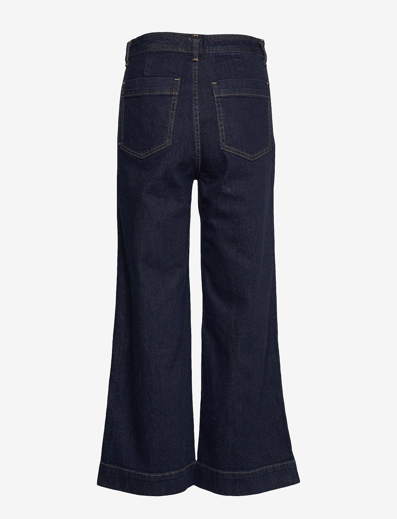 GAP - High Rise Wide-Leg Crop Jeans - broeken met wijde pijpen - rinsed - 1