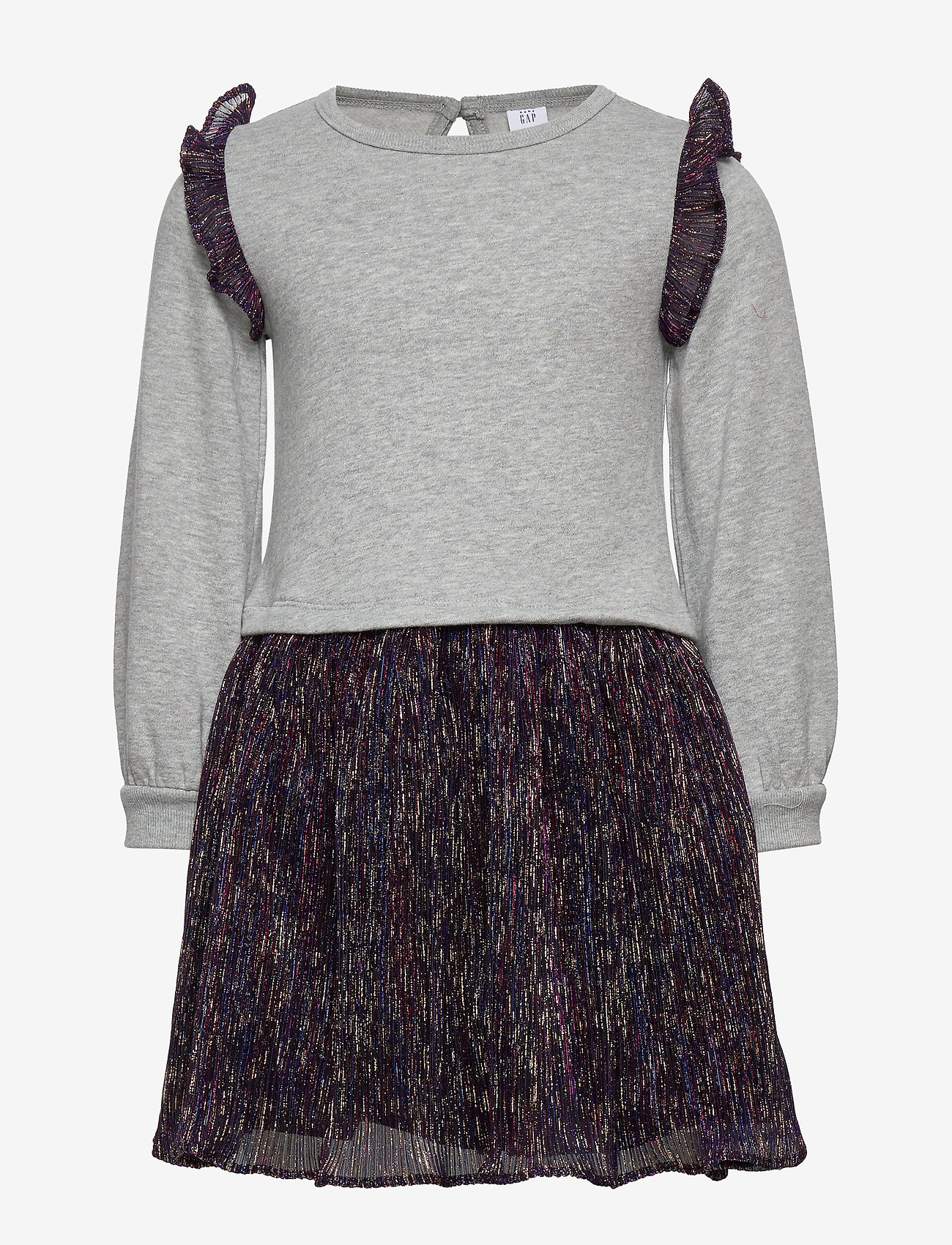 GAP - Toddler Shimmer Mix-Media Dress - jurken - b10 grey heather - 0