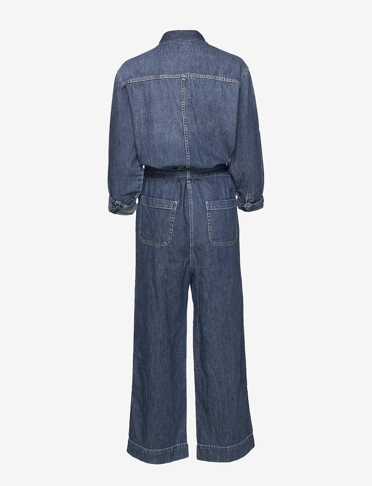 GAP - Utility Tie-Belt Jumpsuit - buksedragter - medium indigo 8 - 1