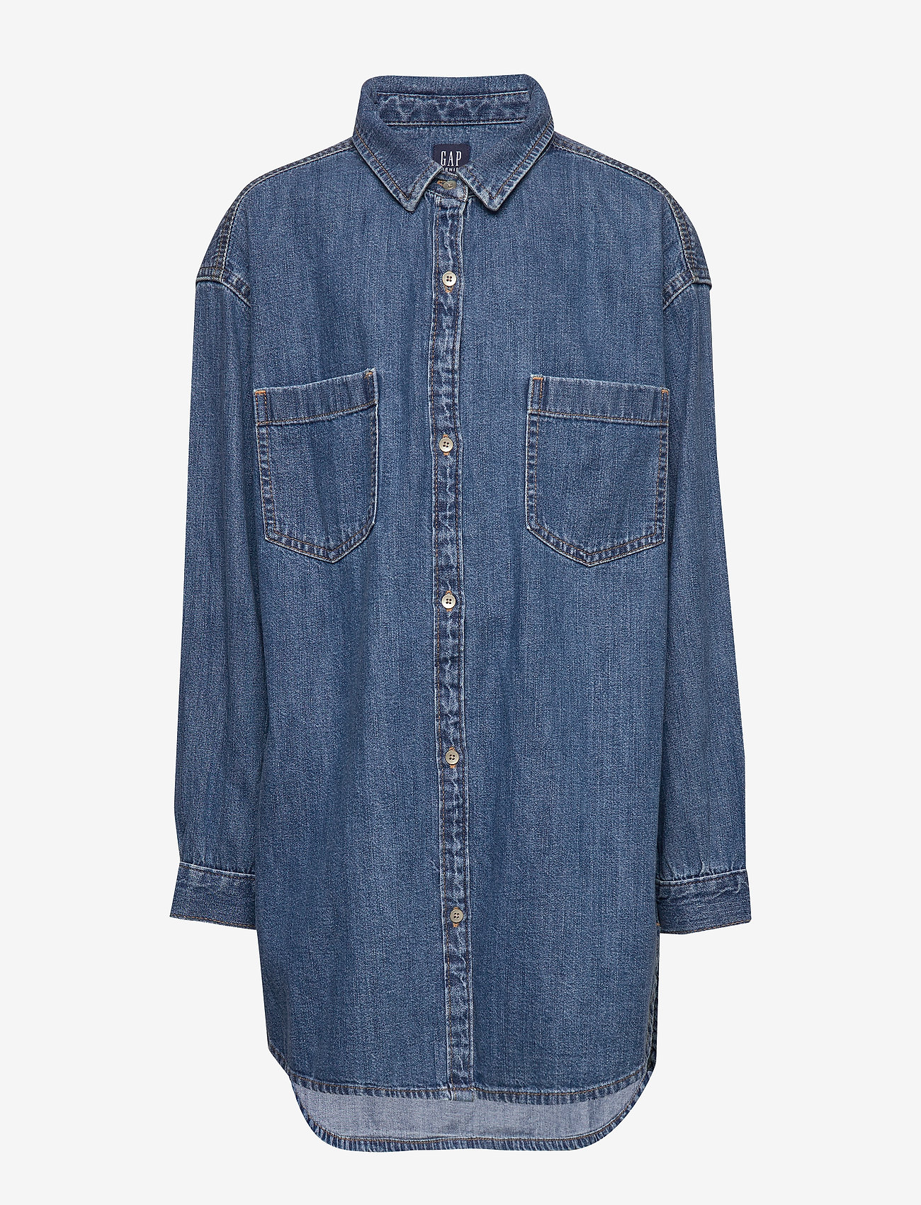 GAP - Kids Oversize Denim Shirt - overhemden - denim 616 - 0