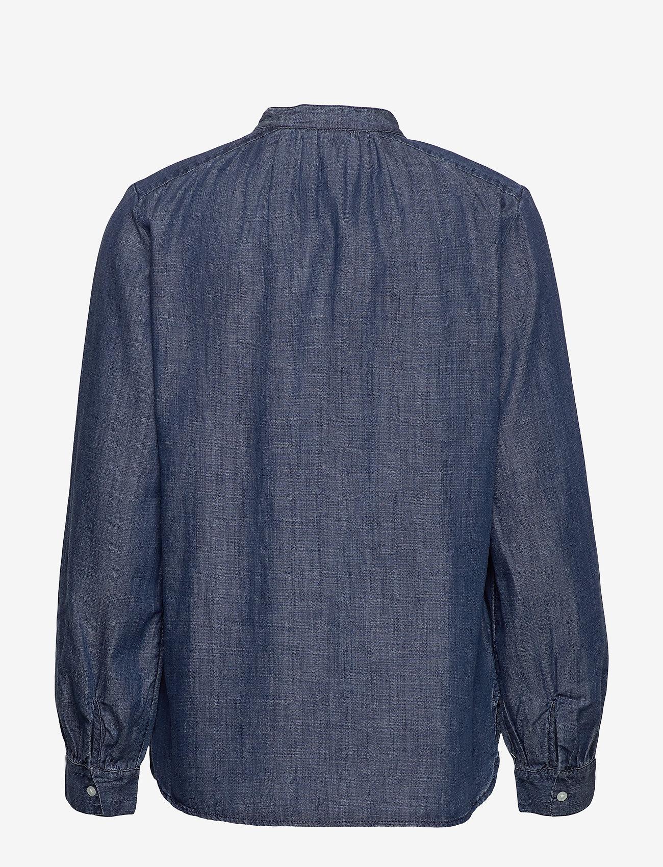 GAP - Tie-Neck Blouse in TENCEL™ - blouses med lange mouwen - dark indigo 4 - 1