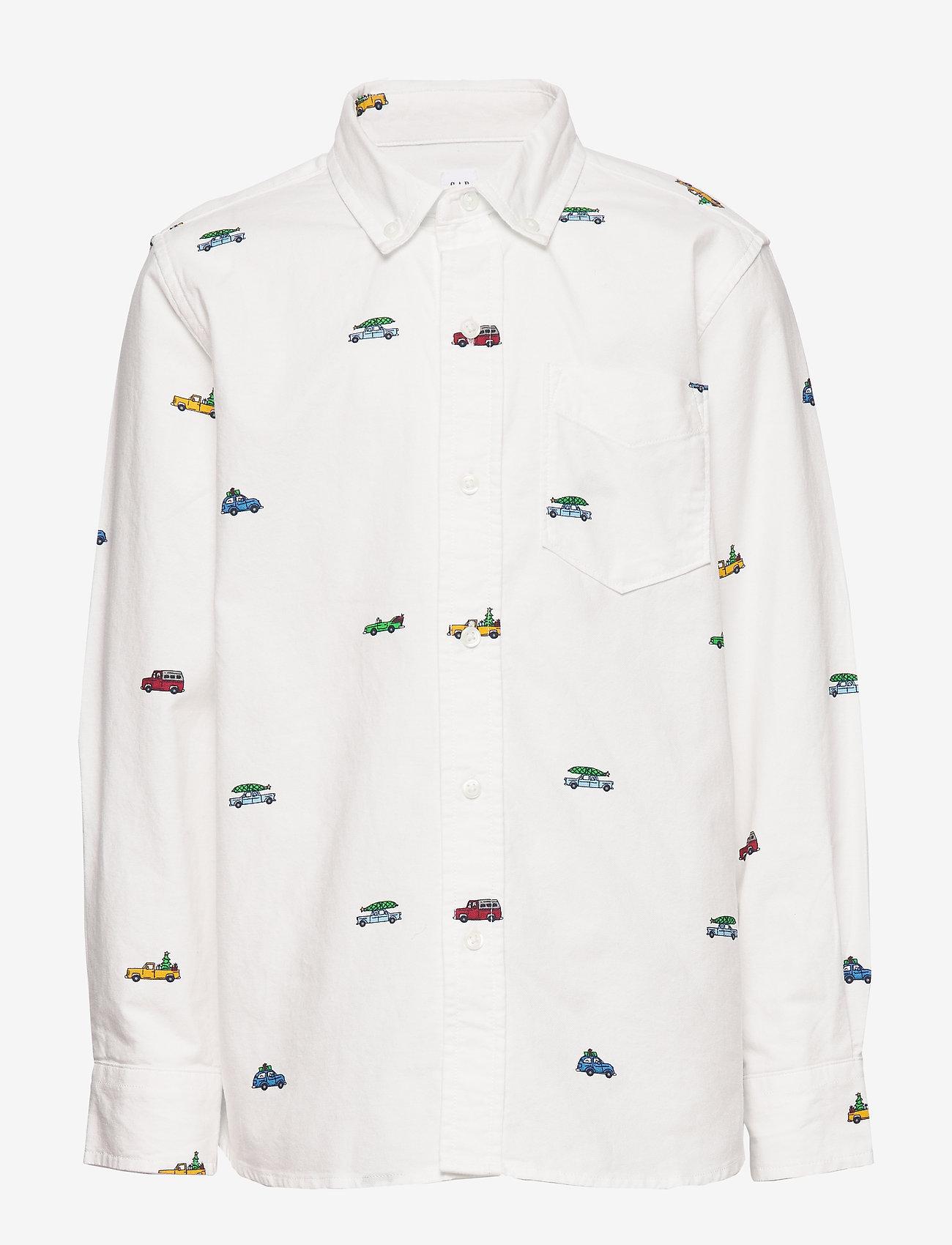 GAP - Kids Oxford Button-Down Shirt - overhemden - new off white - 0