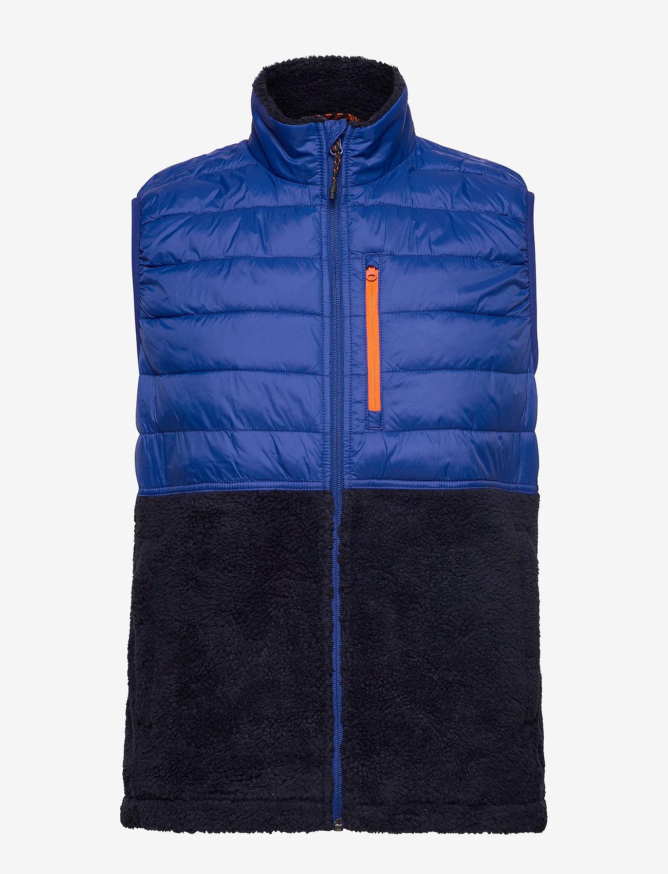Gap Mix-fabric Sherpa Vest - Jackets & Coats