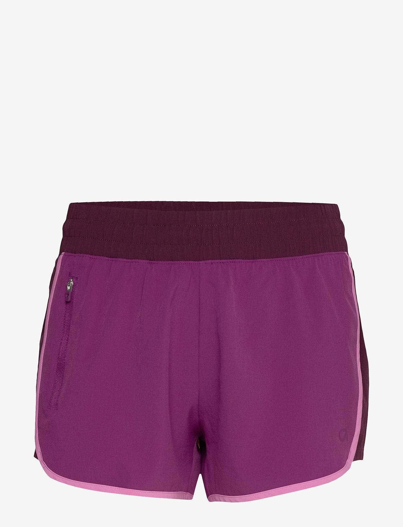 GAP - GapFit Colorblock Shorts - spodenki treningowe - purple wine - 0