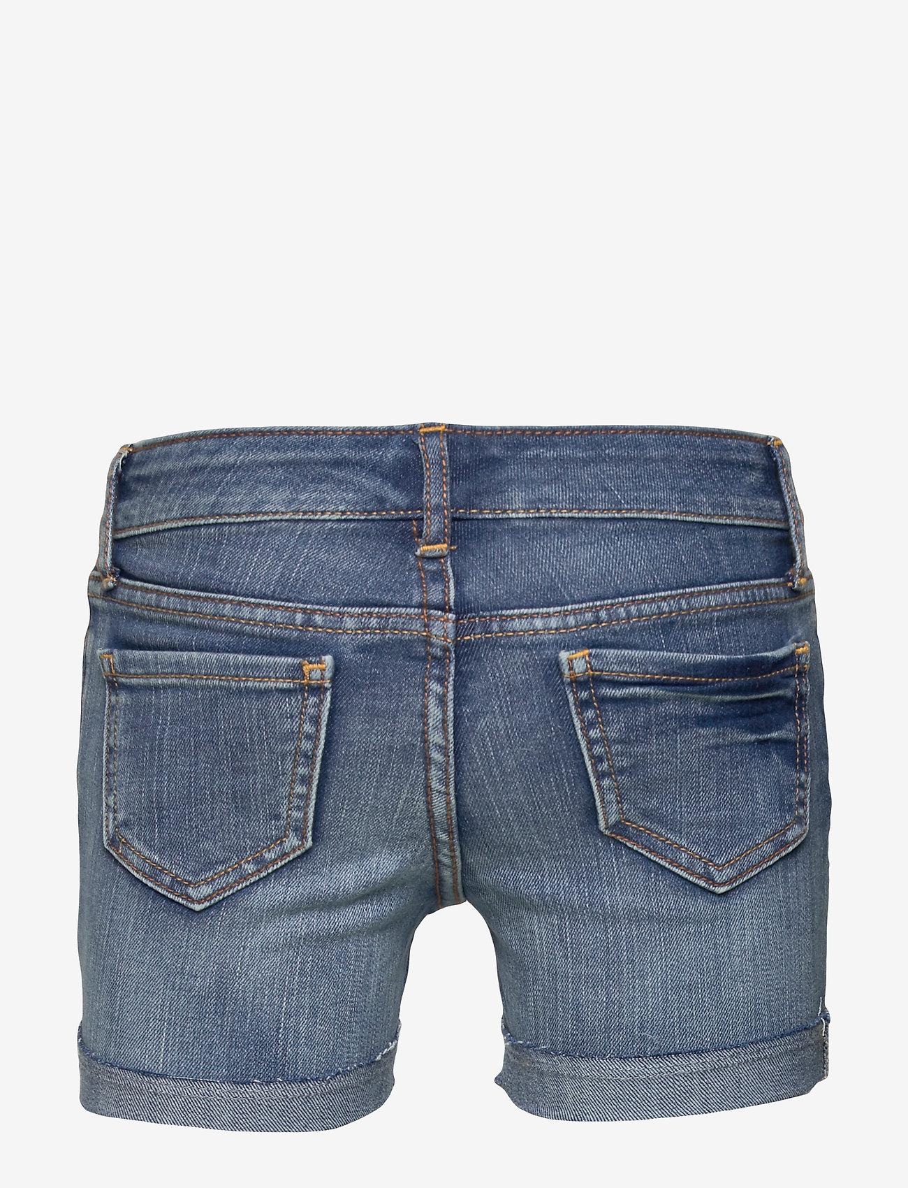Gap Kids Destructed Denim Midi Shorts - Nederdelar Medium Wash