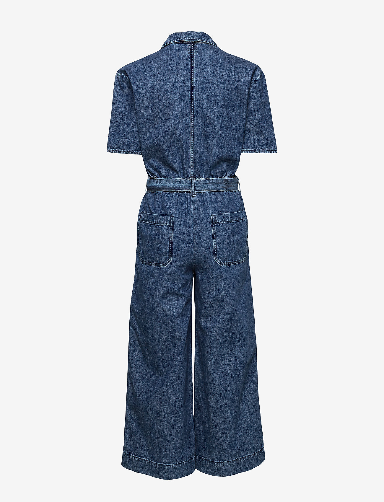 GAP - Utility Tie-Belt Jumpsuit - buksedragter - medium indigo - 1