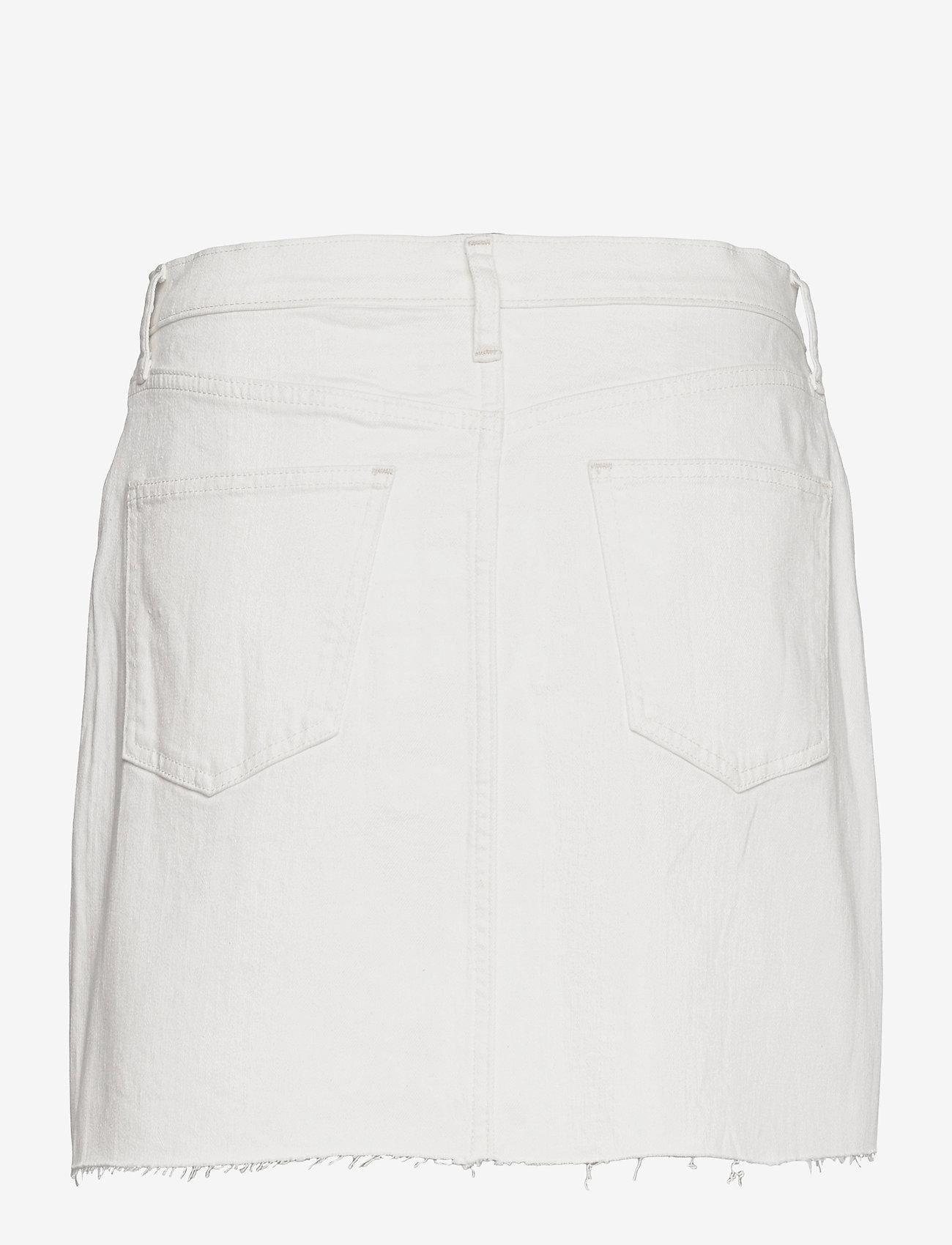GAP - High Rise Denim Skirt with Washwell™ - jeanskjolar - ecru - 1
