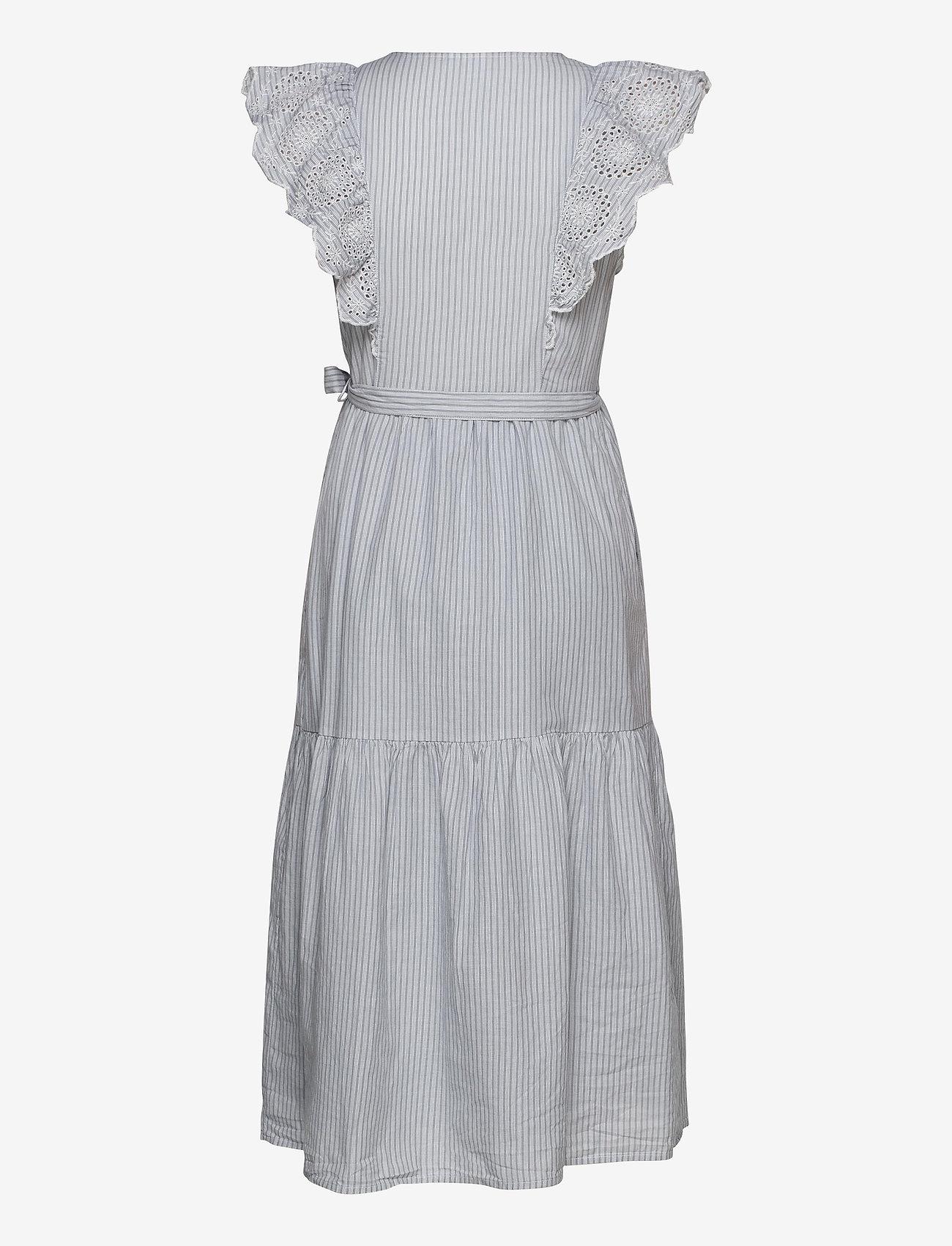 GAP - Flutter Sleeve Midi Wrap Dress - wrap dresses - blue/white stripe - 1