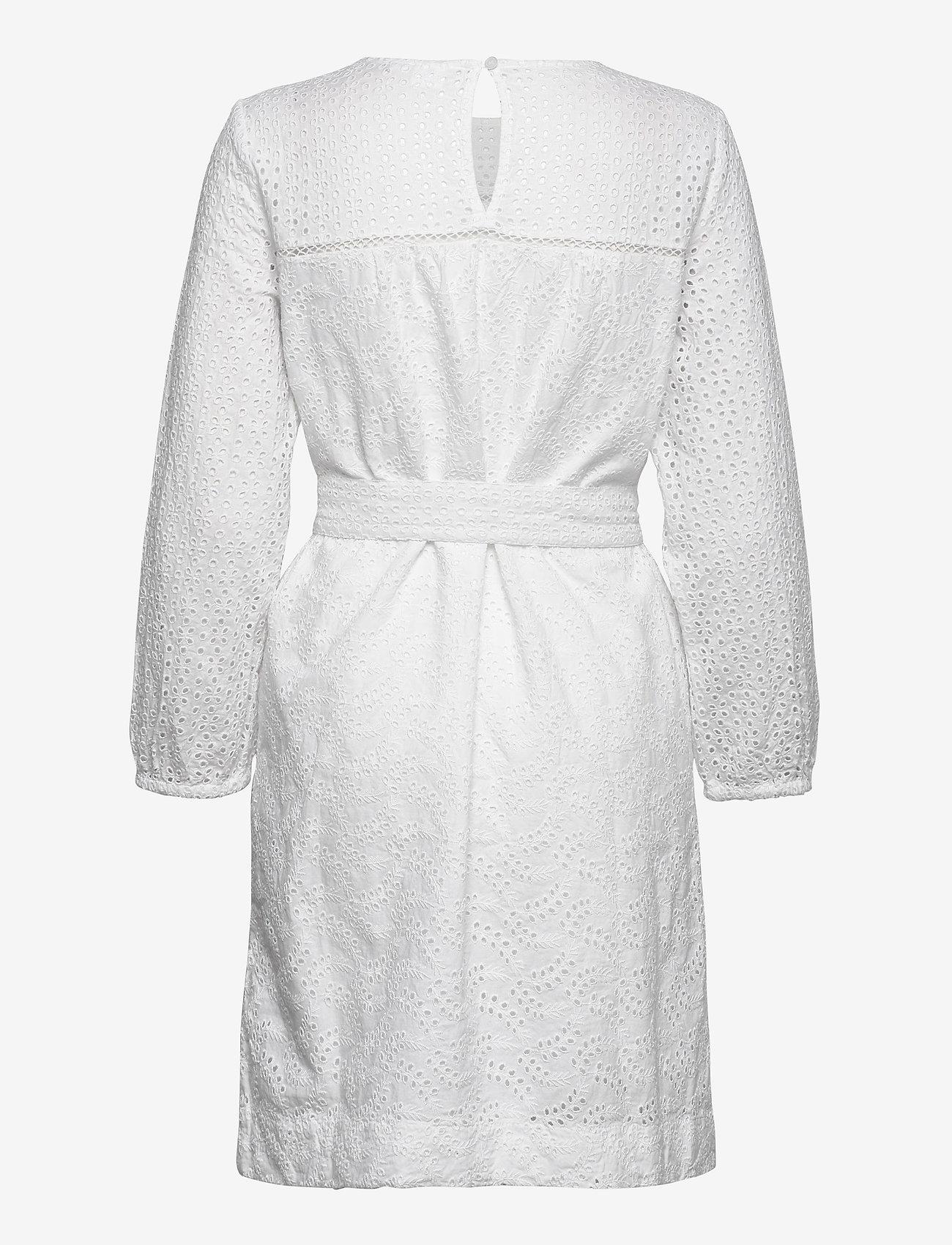GAP Eyelet Tie-Belt Dress - Sukienki OPTIC WHITE 3 - Kobiety Odzież.
