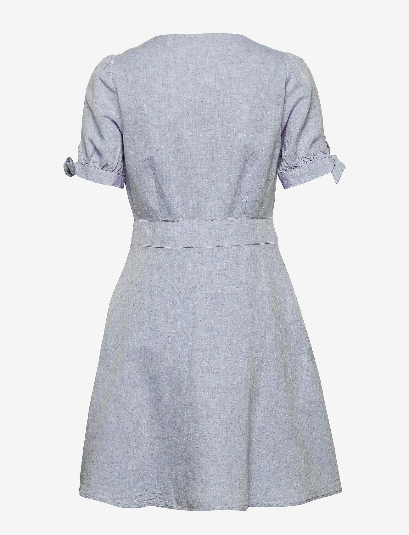 GAP Tie-Sleeve Dress - Sukienki LIGHT BLUE - Kobiety Odzież.