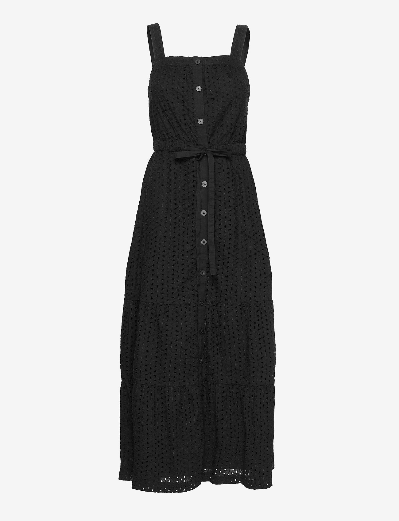 GAP - Apron Maxi Dress - everyday dresses - true black v2 3 - 0