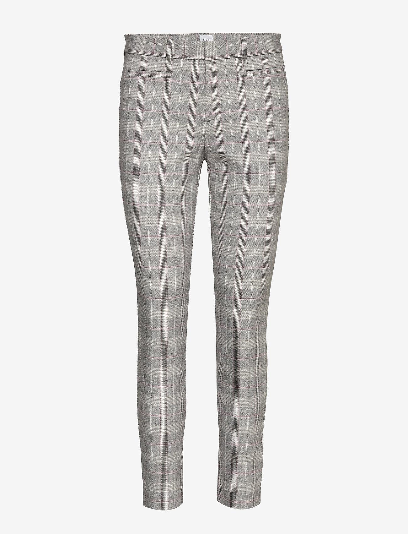 GAP - Skinny Ankle Pants - broeken med skinny fit - grey plaid - 0
