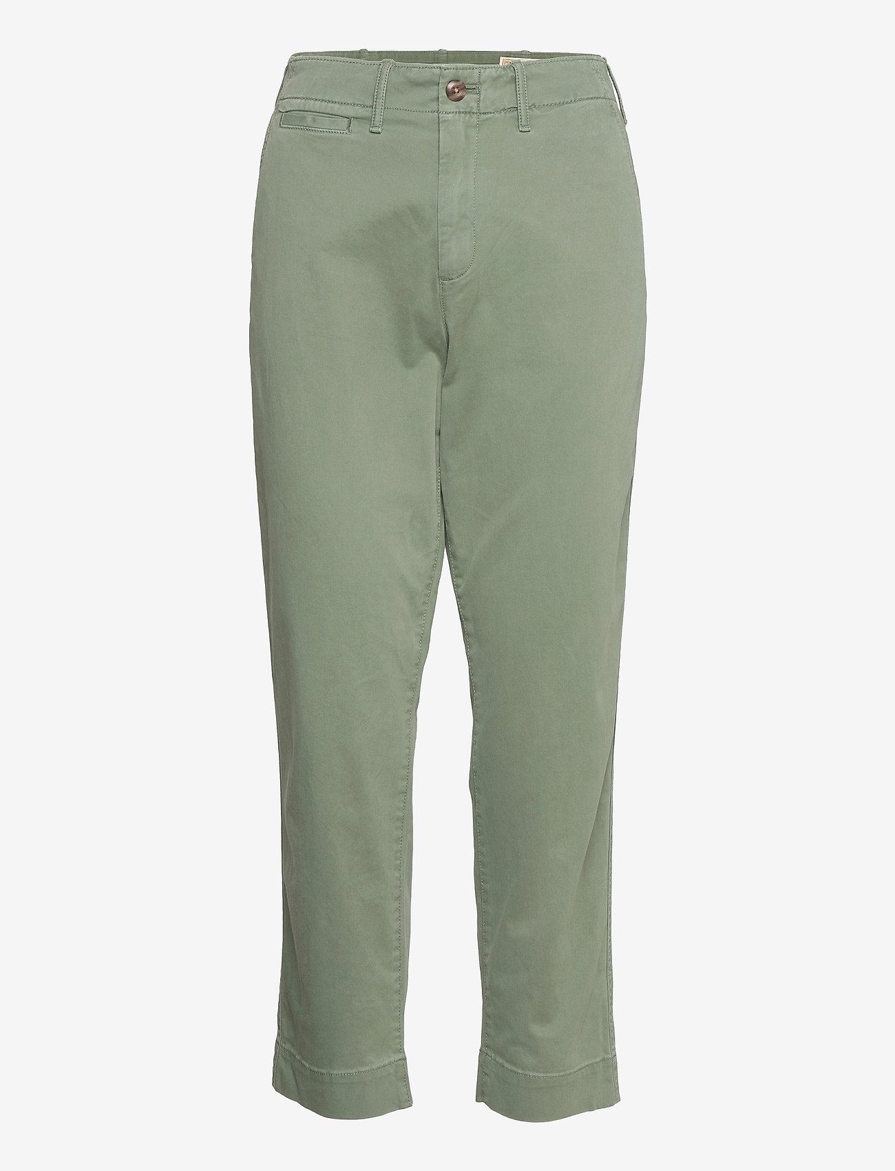 GAP - High Rise Straight Khakis with Washwell™ - chinos - olive - 0