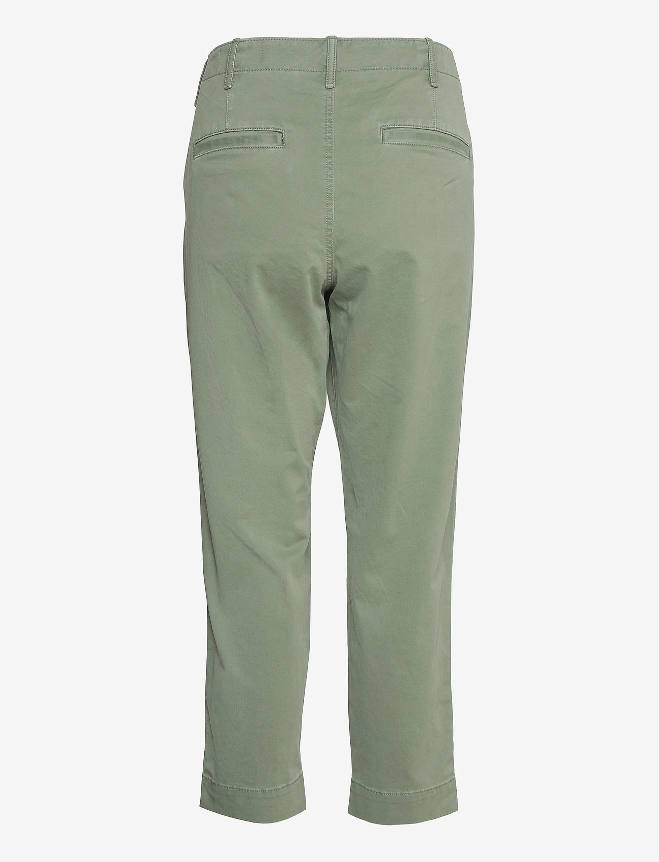 GAP - High Rise Straight Khakis with Washwell™ - chinos - olive - 1