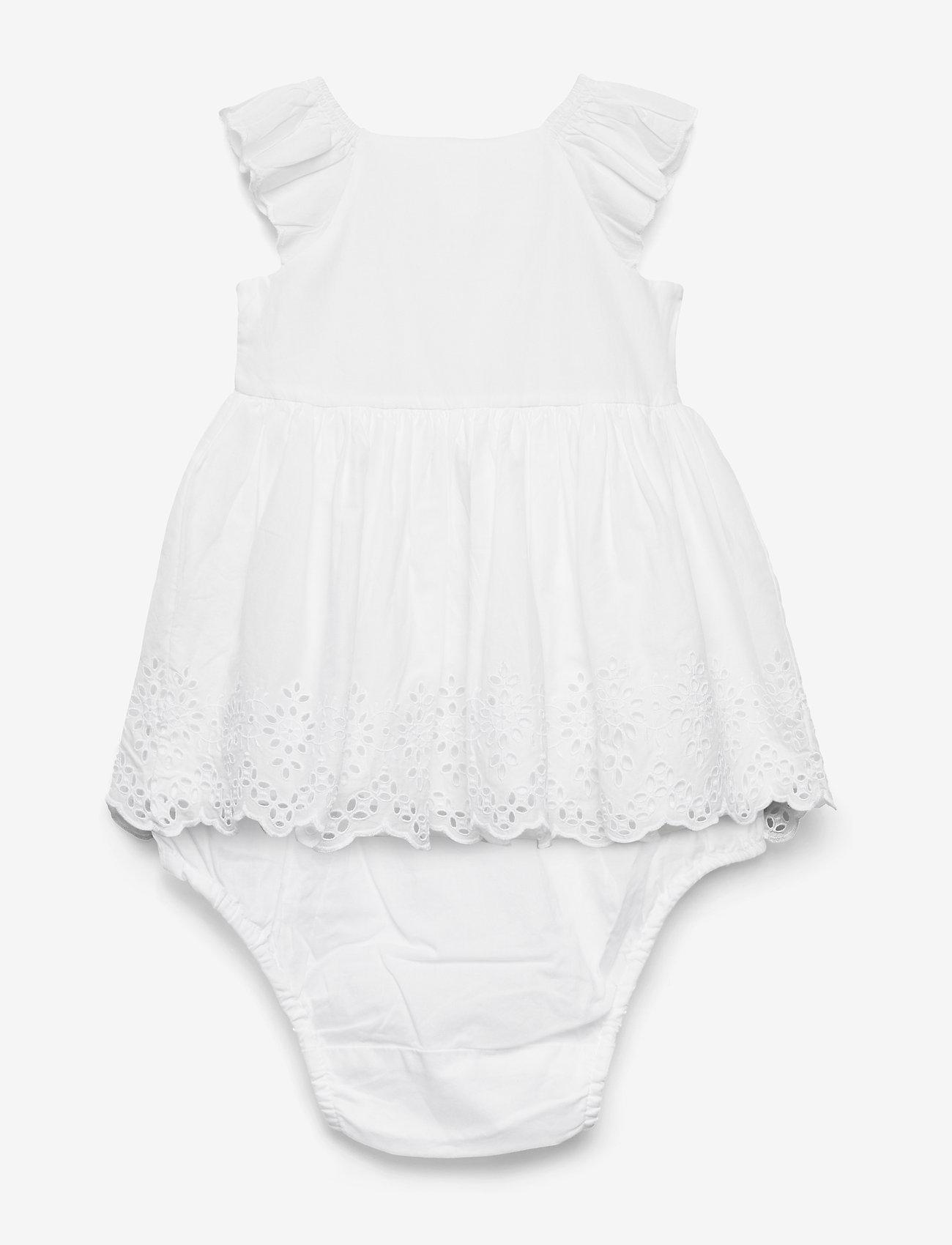 Gap Baby Eyelet Flutter Dress - Klänningar & Kjolar Optic White