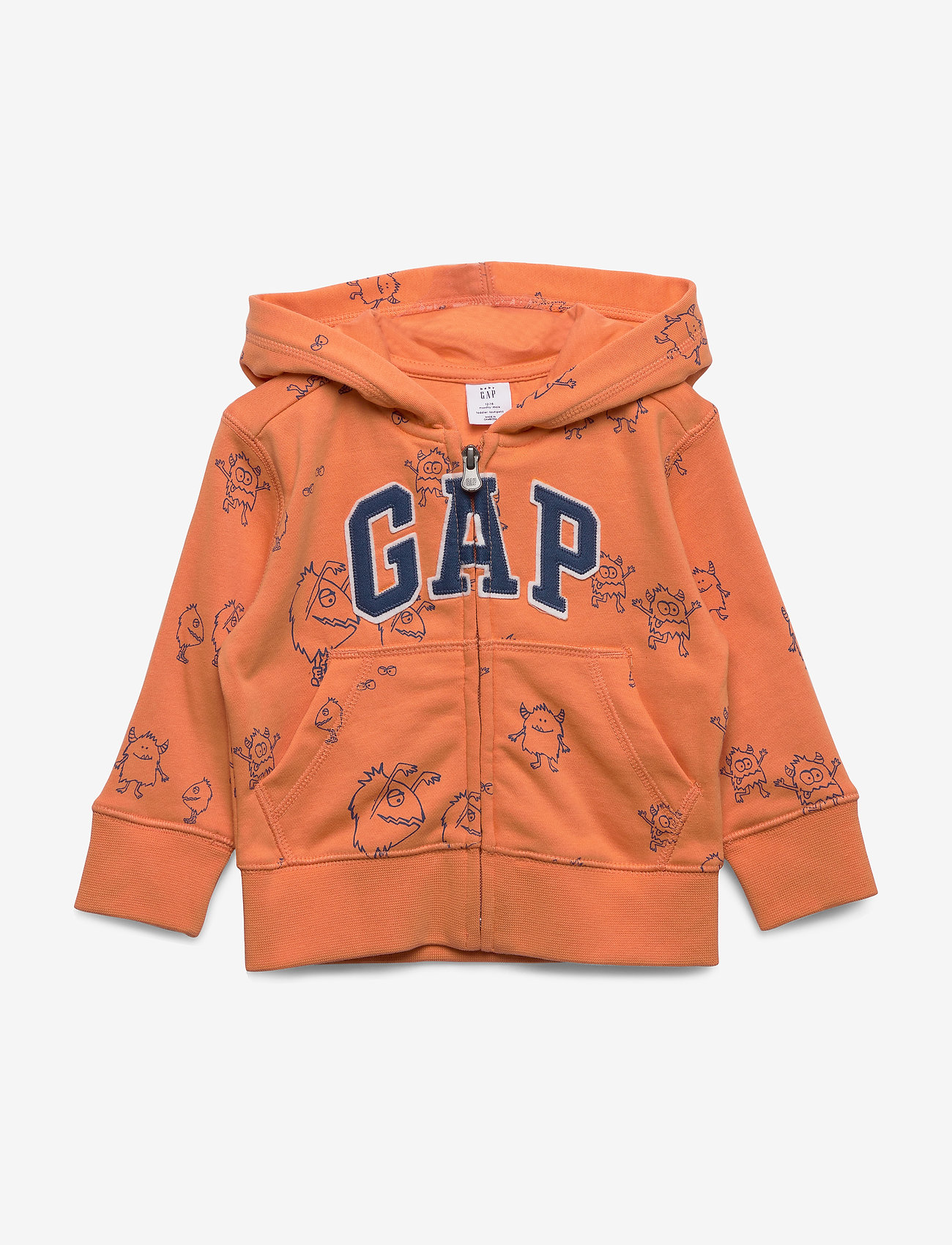 GAP - FT AO NOVELTY FZ LOGO - hættetrøjer - neon dark orange - 0
