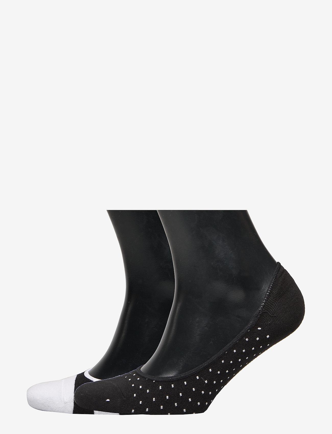 GAP - No-Show Socks (2-Pack) - ankle socks - black/white - 0