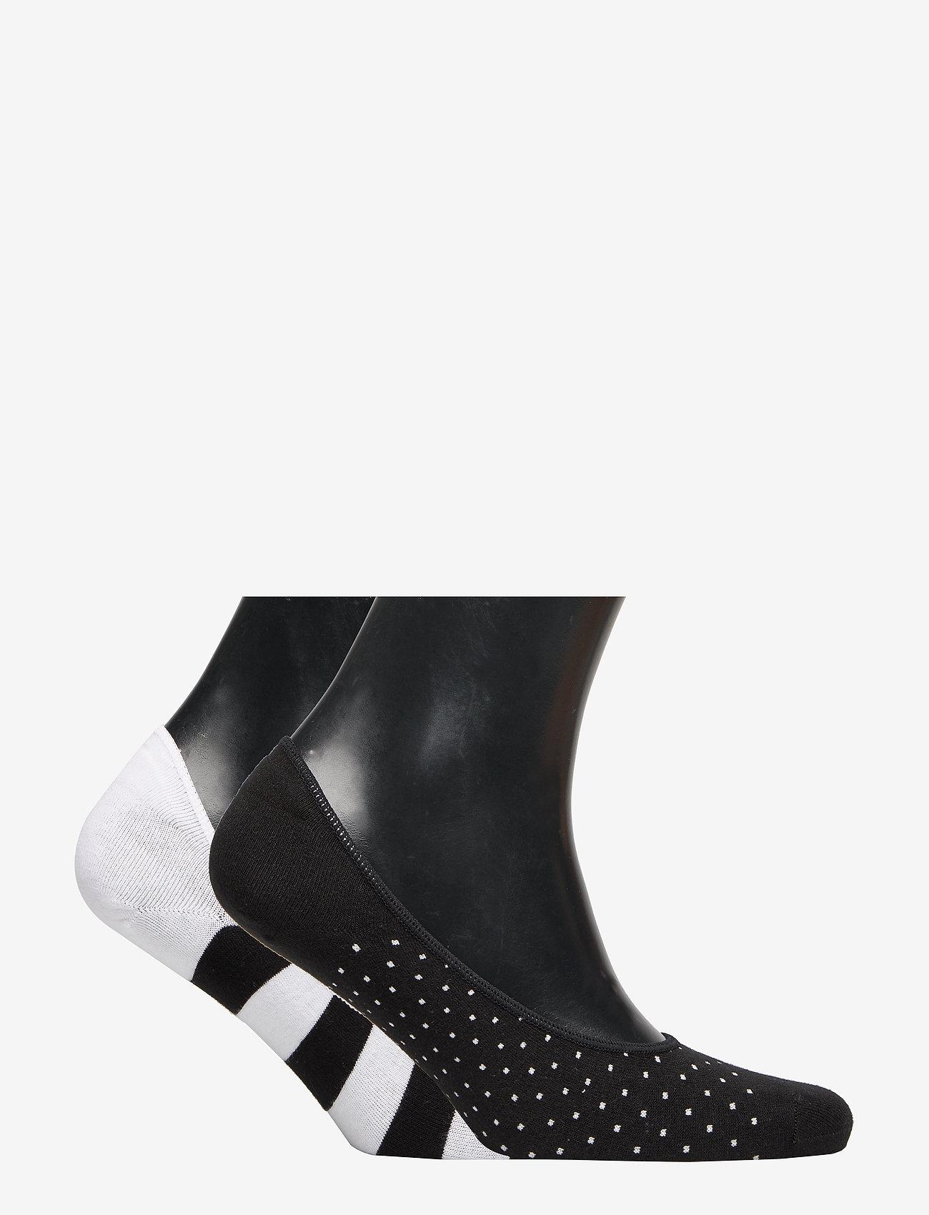 GAP - No-Show Socks (2-Pack) - ankle socks - black/white - 1