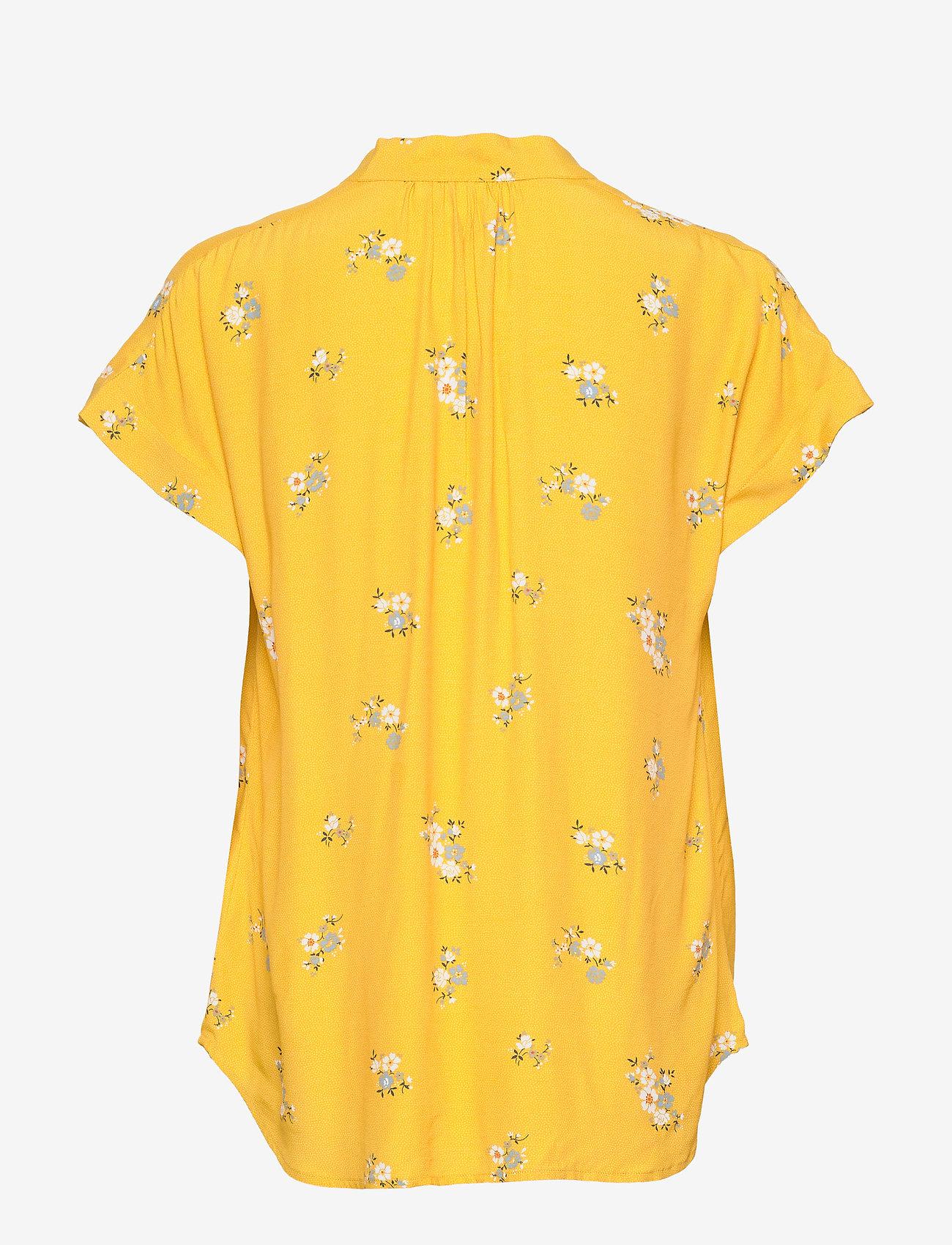 Short Sleeve Popover Top (Mini Yellow Floral) - GAP hCegTu
