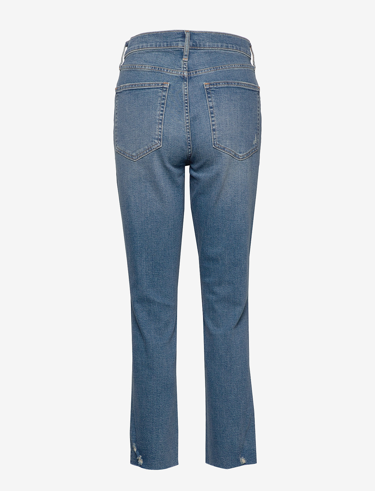 GAP - High Rise Distressed Cigarette Jeans - mom-jeans - dark indigo 4 - 1