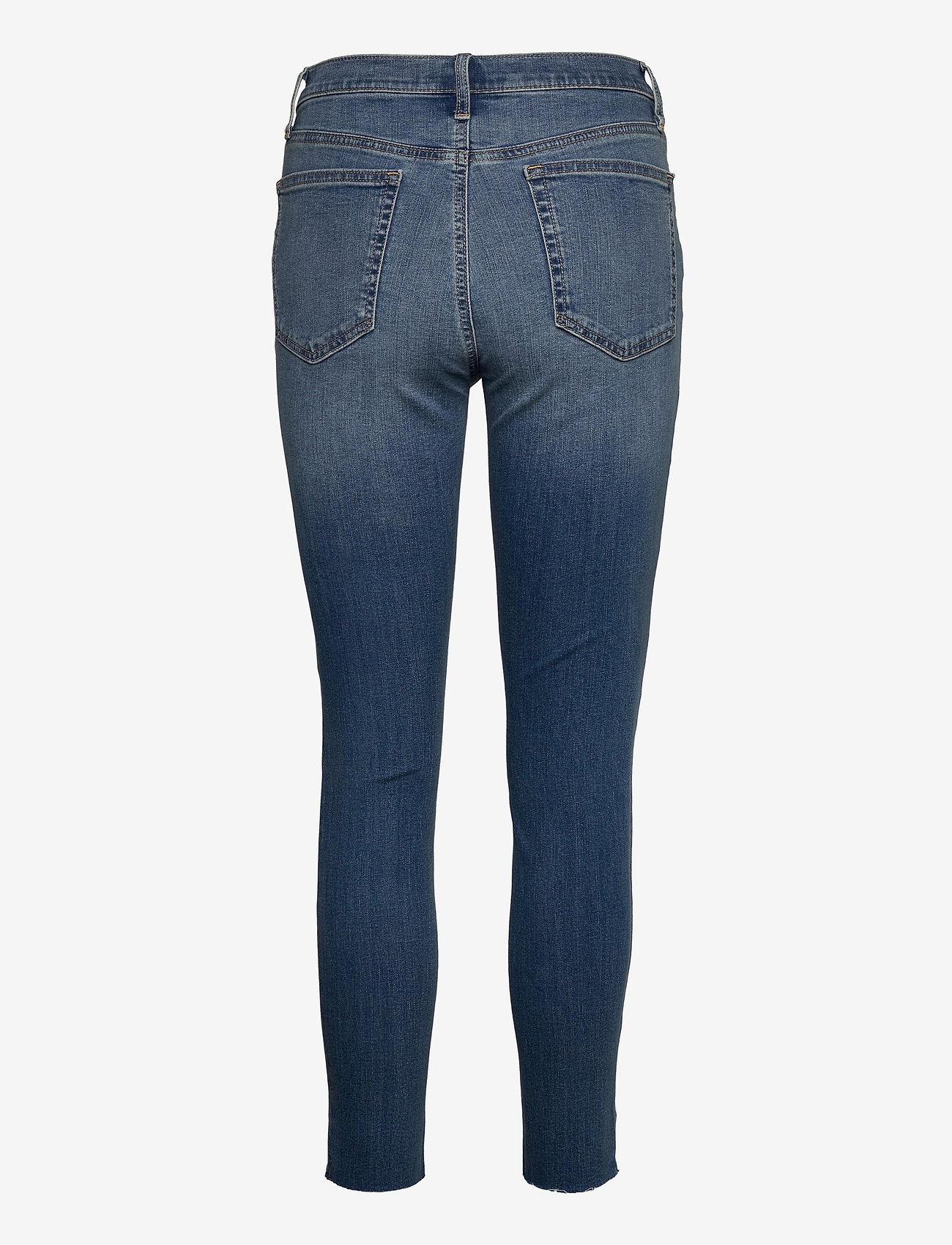 GAP - High Rise True Skinny Ankle Jeans with Secret Smoothing - slim jeans - medium indigo 8 - 1