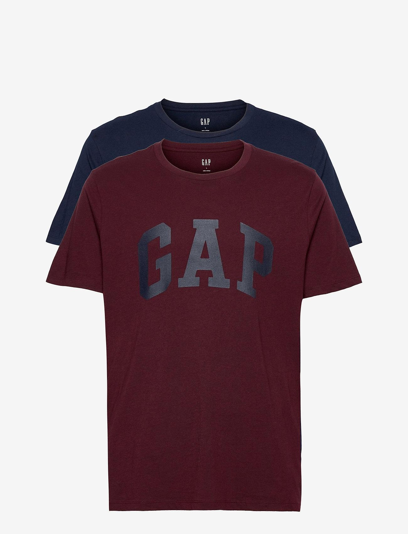 GAP - V-BASIC ARCH 2 PACK - t-shirts à manches courtes - multi - 0