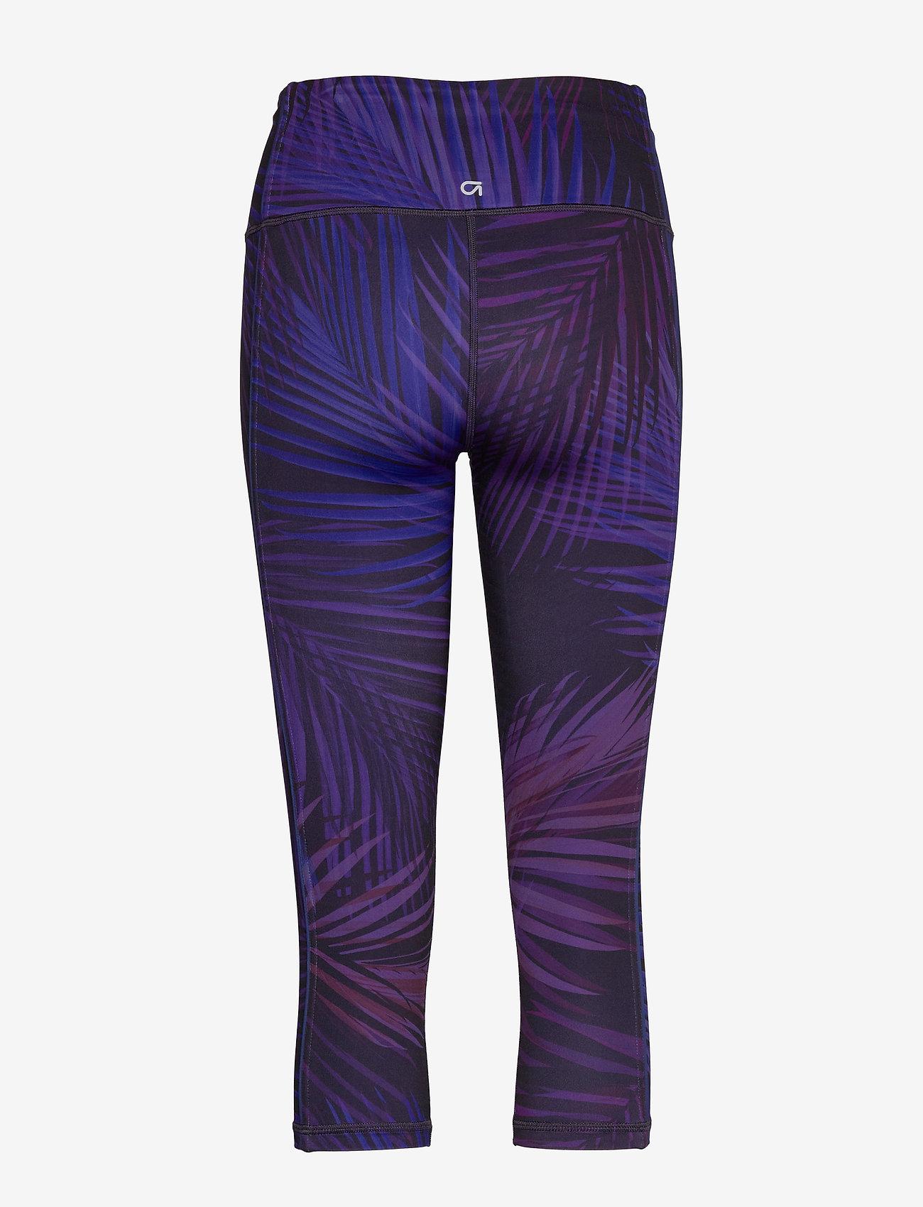 GAP - GapFit High Rise Capris in Eclipse - running & training tights - indigo palm print - 1